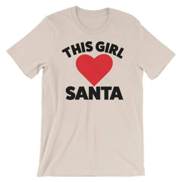 this girl loves santa t-shirt - cream colored