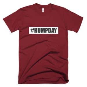 #humpday womens t-shirt - red