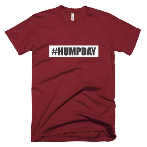 #humpday mens t-shirt - red