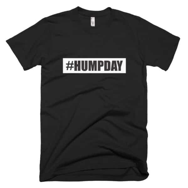 #humpday mens t-shirt - black