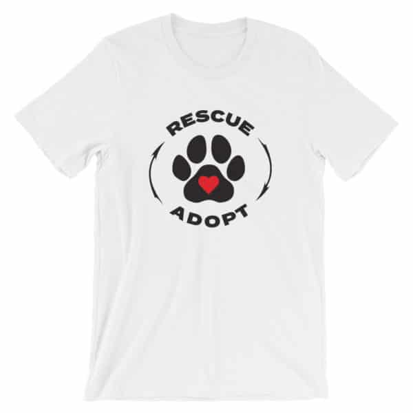 pet rescue - Rescue & Adopt t-shirt - white
