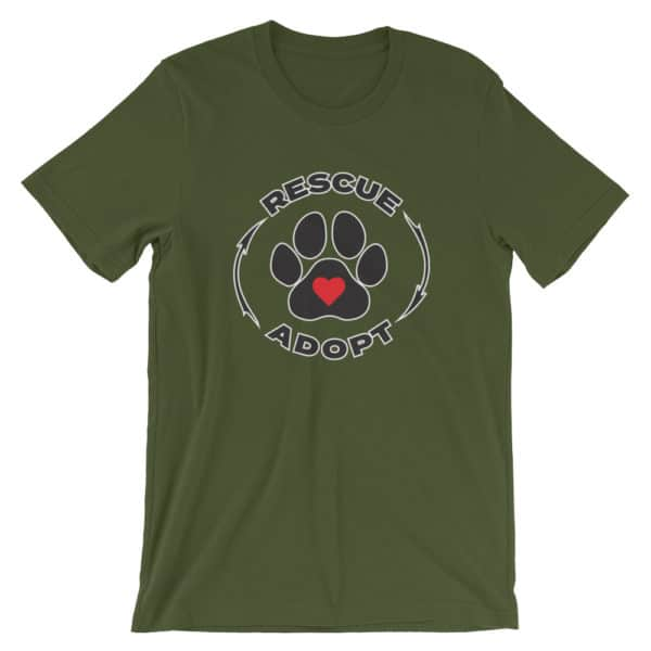 pet rescue - Rescue & Adopt t-shirt - green