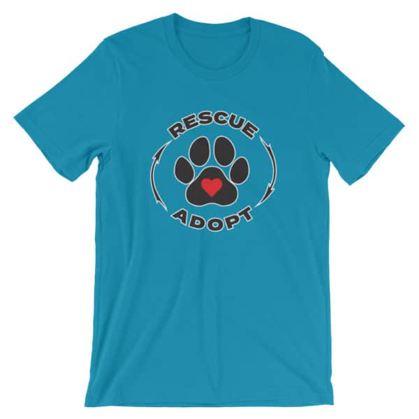 pet rescue - Rescue & Adopt t-shirt - blue