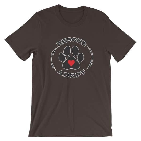 pet rescue - Rescue & Adopt t-shirt - black