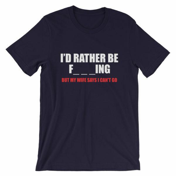 I'd rather be fishing t-shirt - black