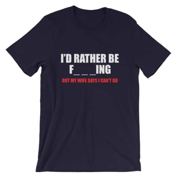 I'd rather be fishing t-shirt - black