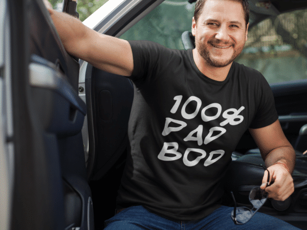 100% Dad Bod T-shirt for dads that don't hit the gym