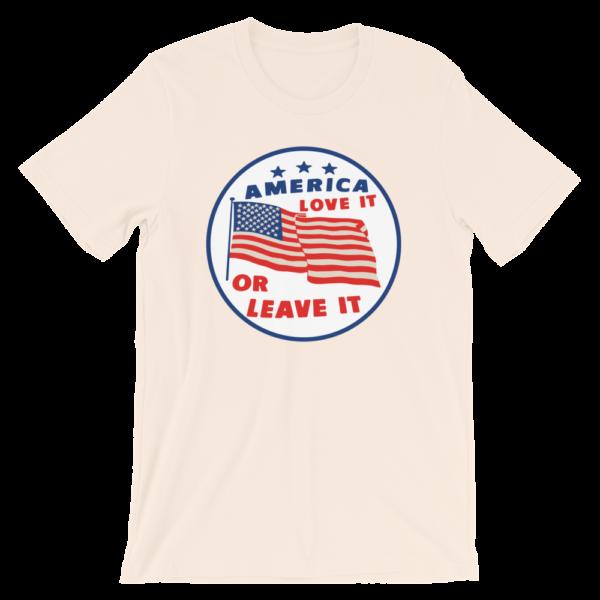 tan America love it or leave it t-shirt