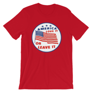 Red America love it or leave it t-shirt