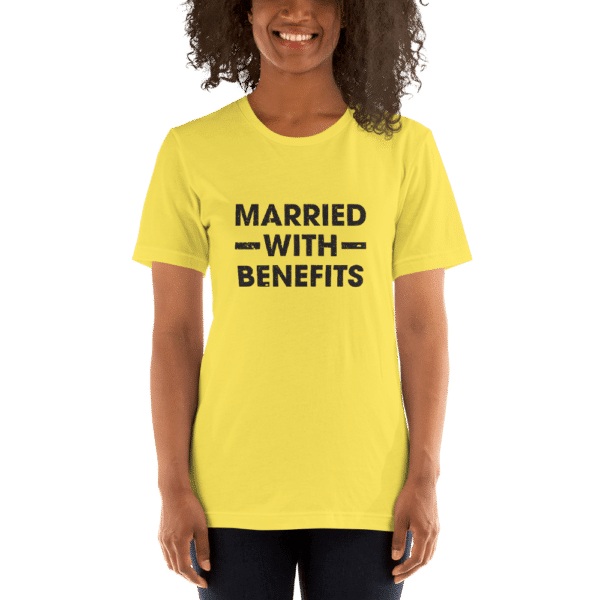 yellow married with benefits t-shirt