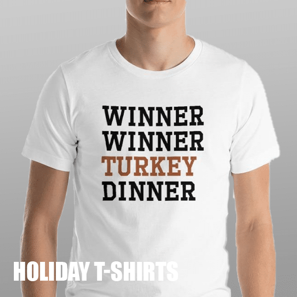 Holiday themed t-shirts