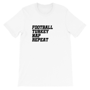 Football turkey nap repeat tshirt