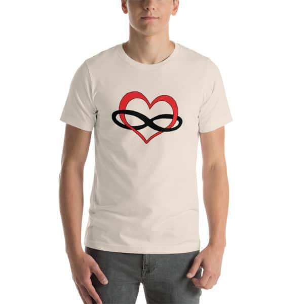 tan polyamory t-shirt