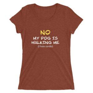 My dog is walking me