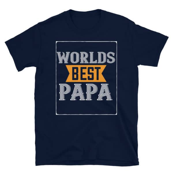 worlds best papa tshirt in blue