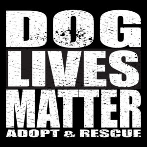 dog lives matter adopt and rescue t-shirt