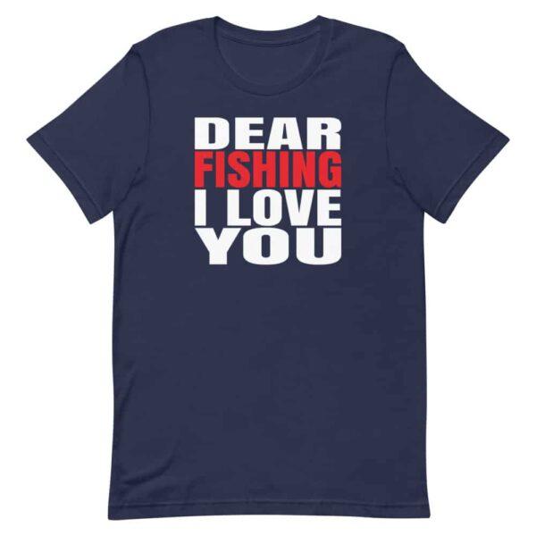 Dear Fishing I love you t-shirt blue
