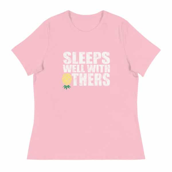 ps well with others women's lifestyle t-shirt - pink