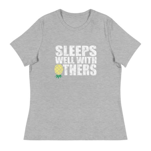 ps well with others women's lifestyle t-shirt - heather