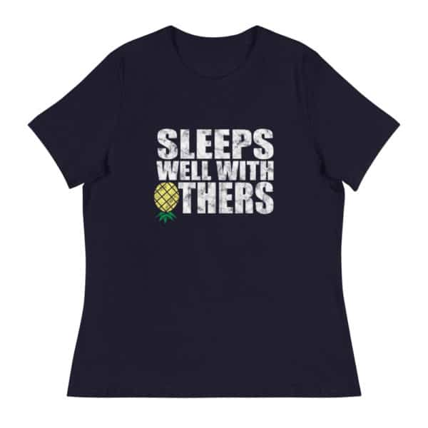 Sleeps well with others women's lifestyle t-shirt - Black