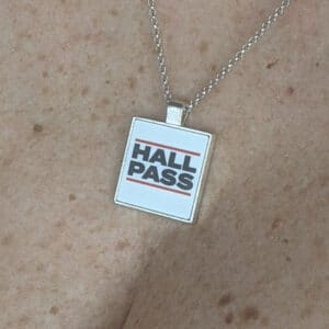 women's hall pass necklace