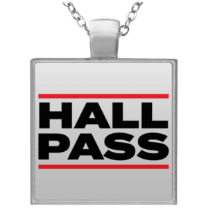 Women's Hall Pass Necklace for swingers and couples with an open relationship
