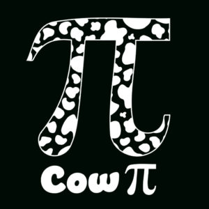Cow Pi Day T-Shirt