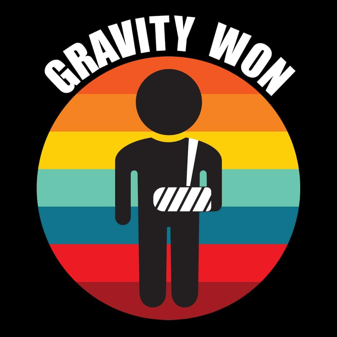 Gravity won Broken arm - insta 2