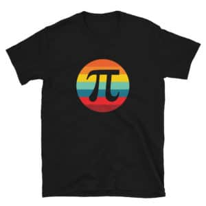 Pi Day Retro Sunset T-Shirt