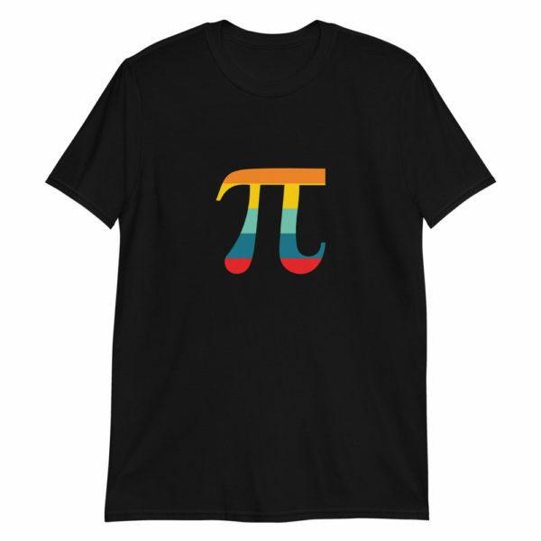 Black Pi day symbol Pi Day T-shirt
