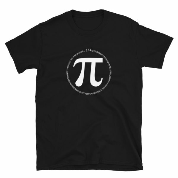 black pi day pi symbol with numbers of pi circle