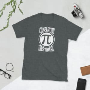 heather completely irrational pi day shirt