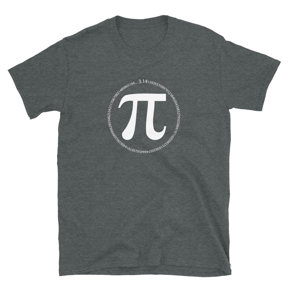 dark heather pi day pi symbol with numbers of pi circle