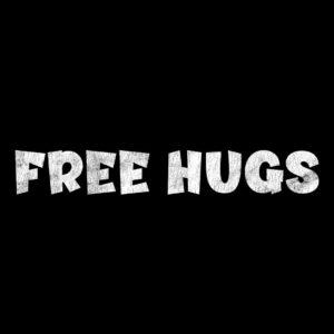 Free hugs distressed t-shirt