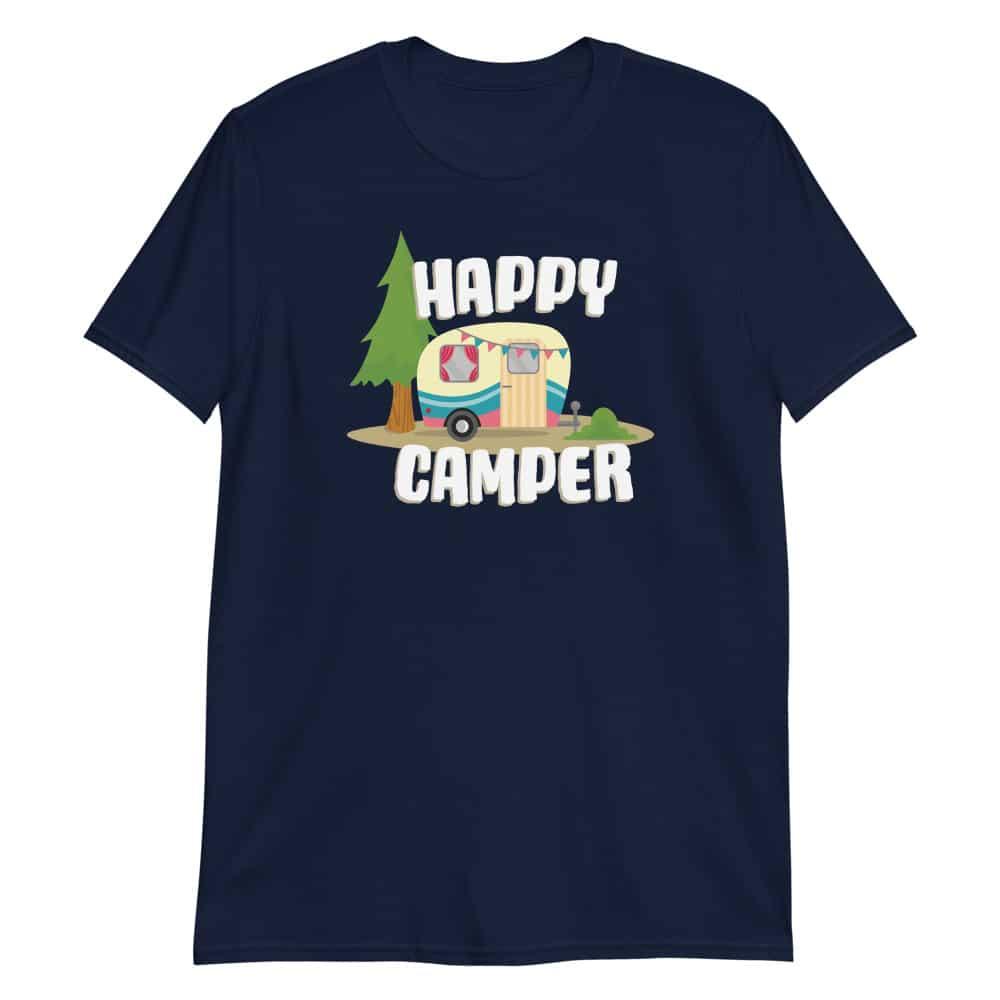Women's happy camper t-shirt in navy