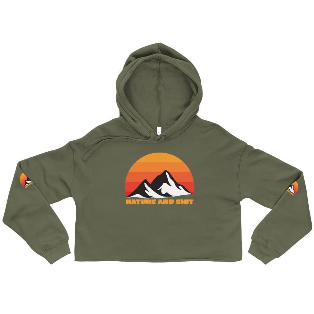 green women's hiking hoodie