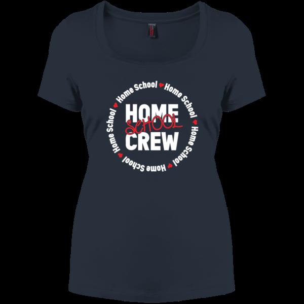 black women's homeschool creaw t-shirt