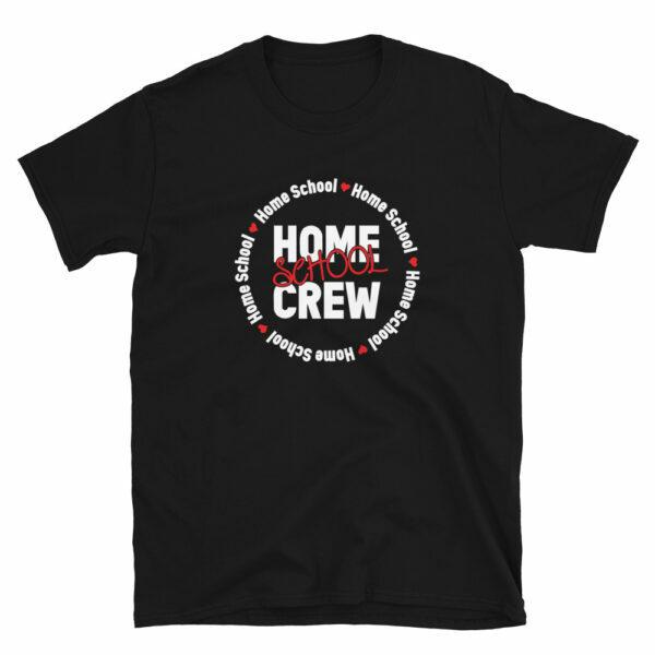 black home school crew t-shirt