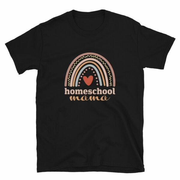black - Homeschool Mama T-shirt