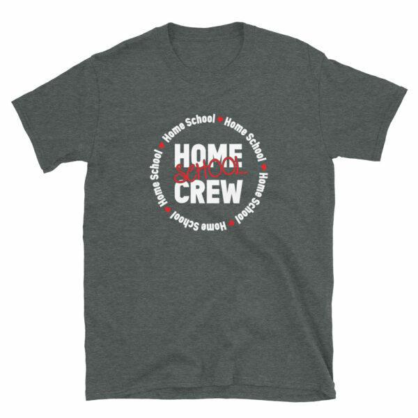 gray home school crew t-shirt